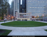 Millennium Monument at Wrigley Square, dedication, October 30, 2002