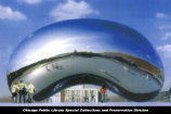 Cloud Gate, computer rendering of proposed sculpture, ca. 1999