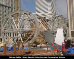 Cloud Gate, attaching steel plates, April 1, 2004