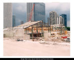 Jay Pritzker Pavilion, structural steel and formwork, ca. July 17, 2002