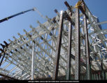 Jay Pritzker Pavilion, steel skeleton, ca. August 26, 2002