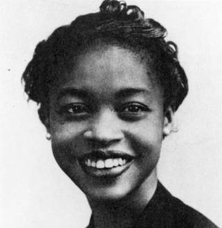 Margaret Walker's face, smiling